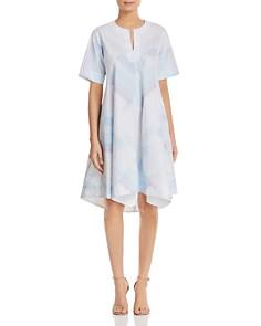 DKNY - Abstract-Print Trapeze Dress