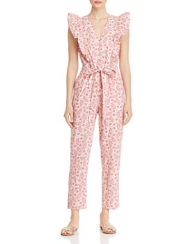 49d93788f584 Rebecca Taylor - Ruffled Paisley Jumpsuit ...