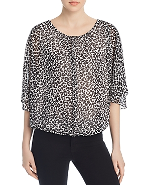 Vince Camuto Tops SNOW LEOPARD-PRINT TOP