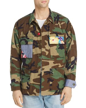 ATELIER & REPAIRS | Atelier And Repairs Patchwork Camouflage-Print Jacket | Goxip