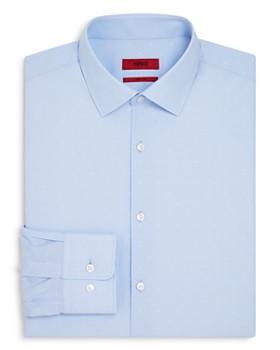 HUGO - Dobby Solid Regular Fit Dress Shirt