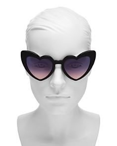 Saint Laurent - Women's Loulou Heart Sunglasses, 54mm