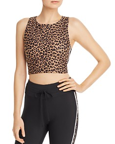 AQUA - Leopard Print Cropped Top - 100% Exclusive