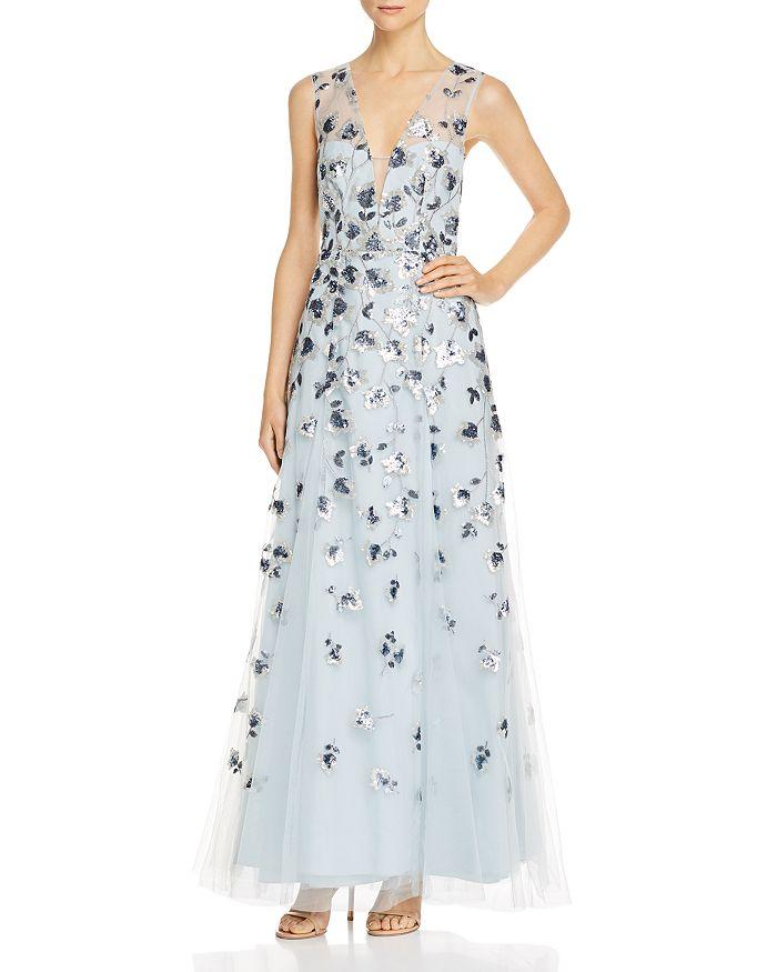 BCBGMAXAZRIA - Sequined Tulle Gown