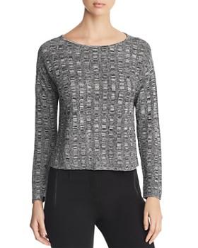 Eileen Fisher - Cropped Melange-Knit Sweater