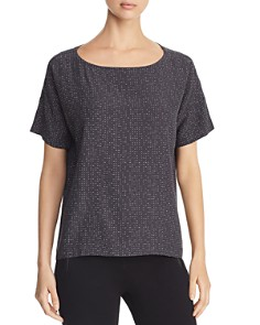 Eileen Fisher - Short-Sleeve Morse Code Top