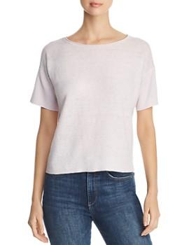 e3392032431 Eileen Fisher - Short-Sleeve Organic Linen Sweater ...