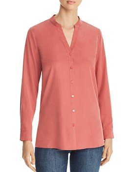 Eileen Fisher Petites - Split Neck Top