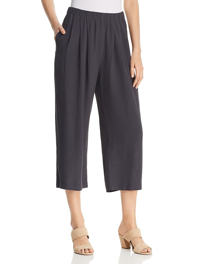 Eileen Fisher - Wide-Leg Cropped Pants - 100% Exclusive