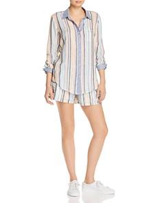 Splendid - x Gray Malin Playa Striped Shirt