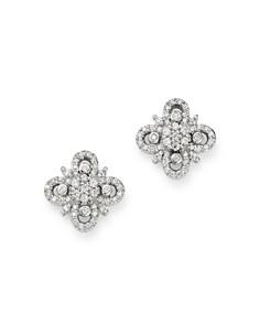 Bloomingdale's - Diamond Clover Stud Earrings in 14K White Gold, 0.30 ct. t.w. - 100% Exclusive