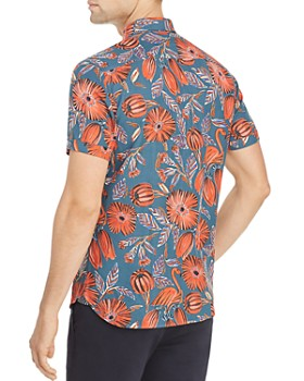 Ted Baker - Memory Flamingo Print Slim Fit Shirt - 100% Exclusive