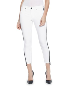 Parker Smith - Side-Stripe Skinny Jeans in Eternal White