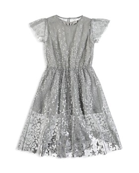 ecfe91aa0ee3 Stella McCartney - Girls  Silver Star Dress - Little Kid