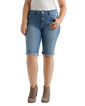 Lucky Brand Plus - Ginger Denim Bermuda Shorts in Bear Lake
