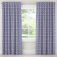 Sparrow & Wren - Cableknit Blue Rod Pocket Curtains