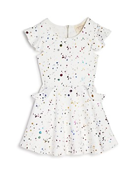 Hannah Banana - Girls' Splatter Fit-and-Flare Dress, Little Kid - 100% Exclusive