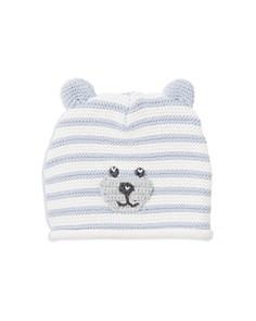 Elegant Baby - Boys' Striped-Knit Bear Hat - Baby