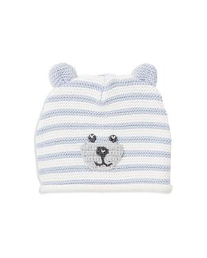 Elegant Baby Boys' Striped-Knit Bear Hat - Baby