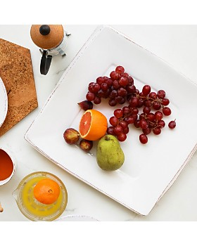 VIETRI - Melamine Lastra White Square Platter