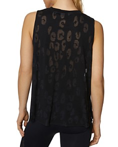 Betsey Johnson - Leopard Burnout Muscle Tank