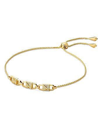 Michael Kors - Mercer Padlock Adjustable Bracelet in 14K Gold-Plated Sterling Silver, 14K Rose Gold-Plated Sterling Silver or Sterling Silver