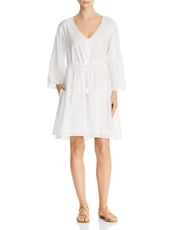 ATM Anthony Thomas Melillo - Crinkle Cotton V-Neck Dress