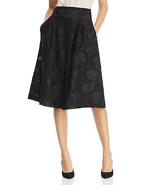 Karl Lagerfeld Skirts TEXTURED-FLORAL SKIRT
