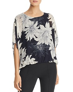 VINCE CAMUTO - Pagoda Blossoms Batwing-Sleeve Top - 100% Bloomingdale's