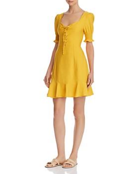 fe30e7a6e03 Lost and Wander - Lace-Up Mini Dress ...