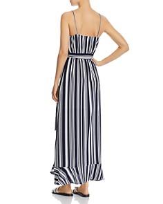 AQUA - Striped Maxi Wrap Dress - 100% Exclusive