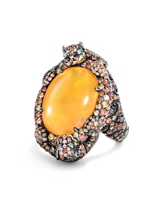 JOHN HARDY - 18K Yellow Gold Cinta Macan Ring with Fire Opal & Multi-Gemstones