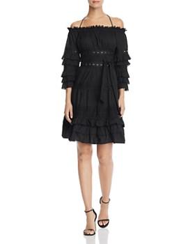 decc45e86c AQUA - Ruffled Off-the-Shoulder Dress - 100% Exclusive ...