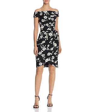 Adrianna Papell Living Blooms Off-the-Shoulder Dress