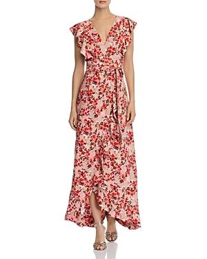 Wayf Sara Maxi Wrap Dress