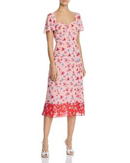nanette Nanette Lepore - Floral Sweetheart Dress
