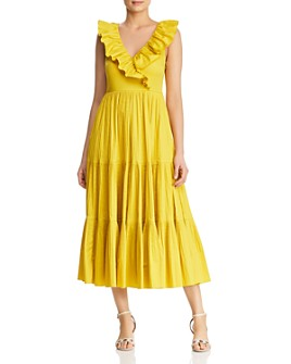 kate spade new york - Ruffled-Collar Midi Dress