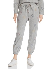 Honey Punch - Star Embroidered Jogger Pants