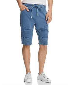 True Religion - Faded Moto Sweat Shorts