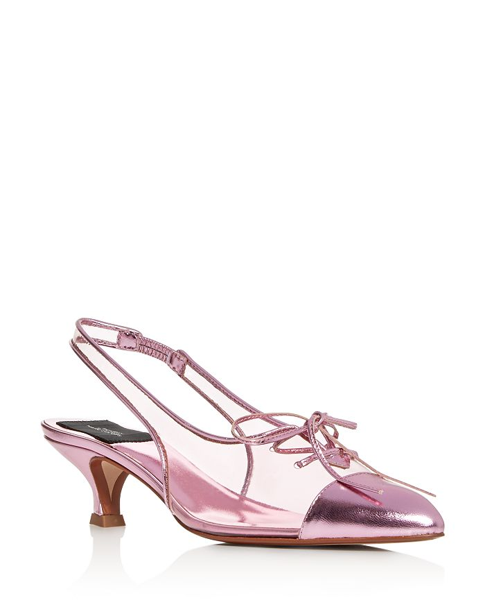 MARC JACOBS - Women's Slingback Kitten-Heel Pumps
