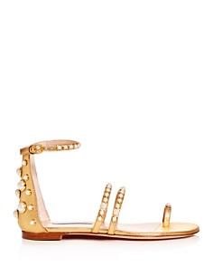 Stuart Weitzman - Women's Petrina Embellished Ankle-Strap Sandals