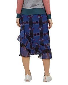 Ted Baker - Colour by Numbers Kortez Robot-Print Midi Skirt
