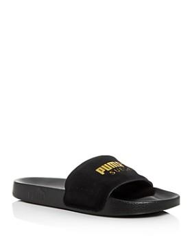 PUMA - Men's Leadcat Suede Slide Sandals