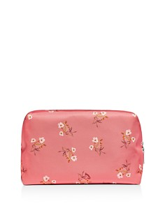 COACH - Large Boxy Floral Print Bow Cosmetic Case