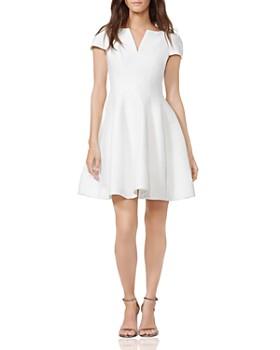 209798e6454 HALSTON HERITAGE - Notched Boatneck Dress ...