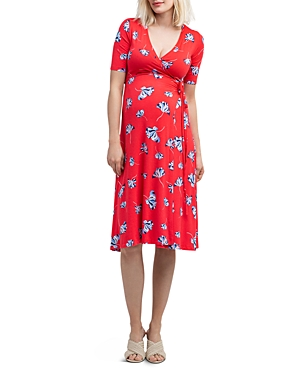 Nom Maternity Maya Floral Print During & After Wrap Dress