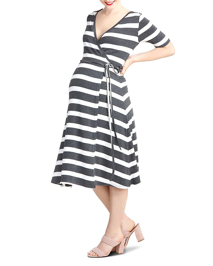 e7988a30b02 Nom Maternity Maya Striped During & After Wrap Dress | Bloomingdale's