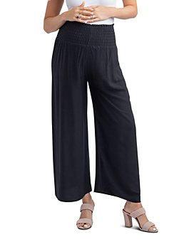 Nom Maternity - Corsica Smocked Wide-Leg Maternity Pants
