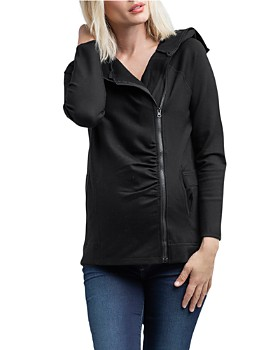 Nom Maternity - Rainier Fleece Lined Zip Hoodie