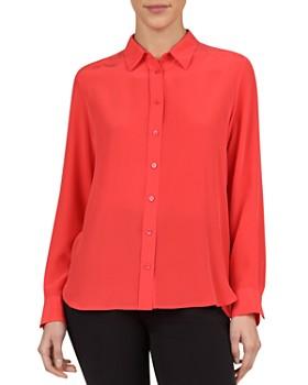 Gerard Darel - Ethan Crossover-Back Button-Down Silk Shirt